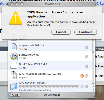 Using GnuPG encyption with Mac OS X Mail